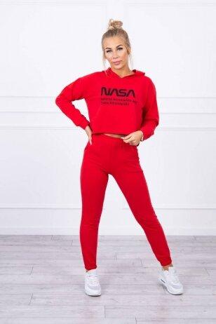Raudonas sportinis kostiumas MOD1469
