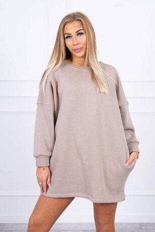 Smėlinės spalvos džemperis MOD1467