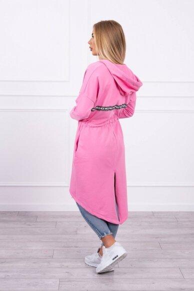 Šviesiai rožinės spalvos kardiganas MOD292 2