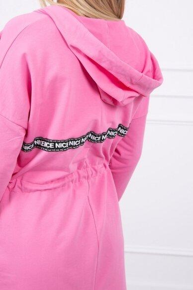 Šviesiai rožinės spalvos kardiganas MOD292 4