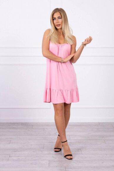 Šviesiai rožinė suknelė MOD708 3