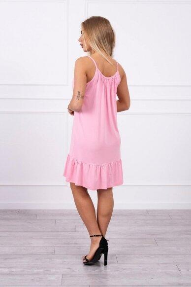 Šviesiai rožinė suknelė MOD708 2