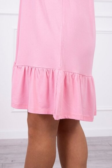 Šviesiai rožinė suknelė MOD708 4
