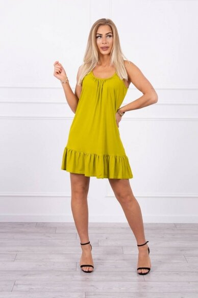 Kivinės spalvos suknelė MOD708 3