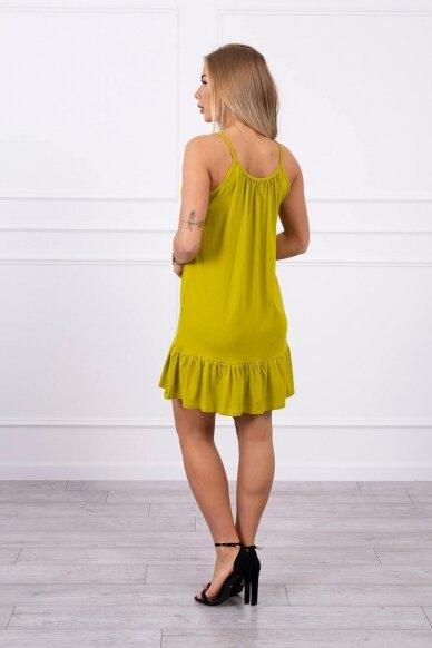 Kivinės spalvos suknelė MOD708 2