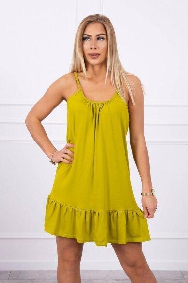 Kivinės spalvos suknelė MOD708