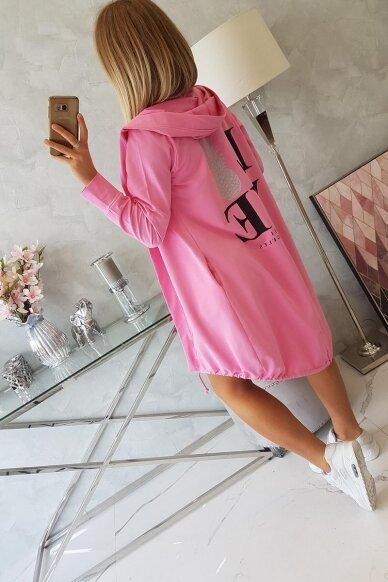 Šviesiai rožinės spalvos kardiganas MOD759 2