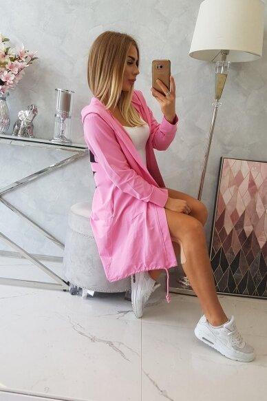 Šviesiai rožinės spalvos kardiganas MOD759 3