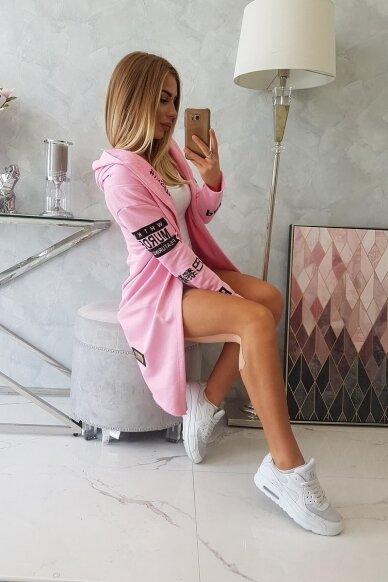 Šviesiai rožinės spalvos kardiganas MOD029 4