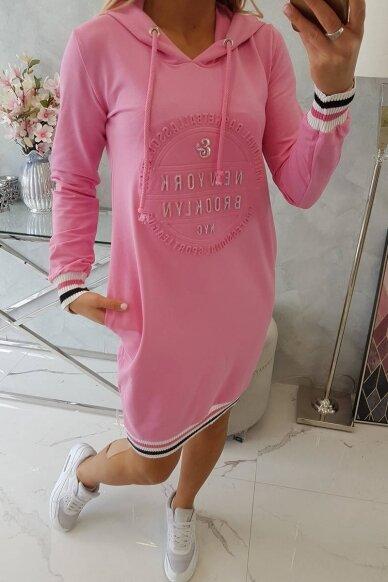 Šviesiai rožinė suknelė MOD097