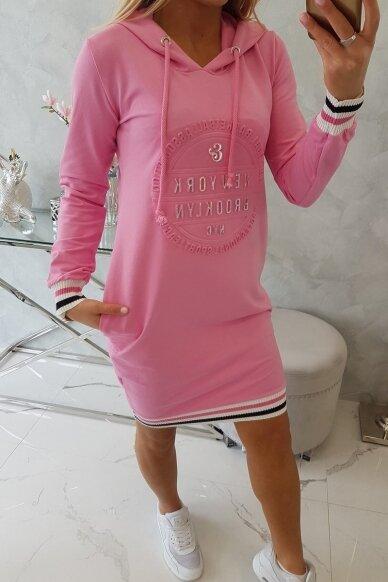 Šviesiai rožinė suknelė MOD097 3