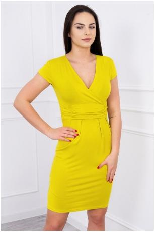 Kivinės spalvos suknelė MOD252