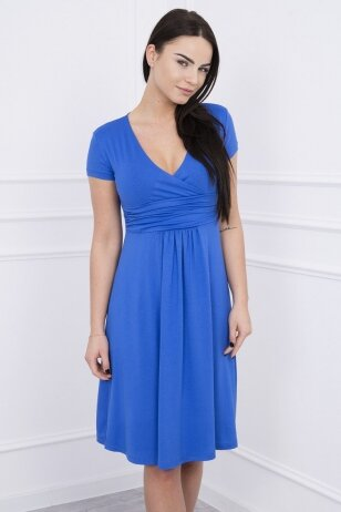 Rugiagėlių spalvos suknelė MOD251