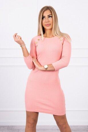 Abrikosinės spalvos suknelė MOD703