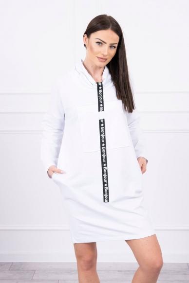 Balta suknelė tunika MOD479 2