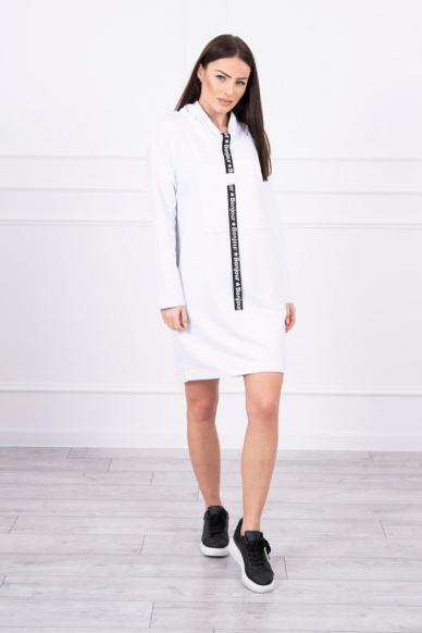 Balta suknelė tunika MOD479 3