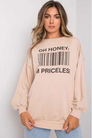 Smėlinės spalvos džemperis MOD1197