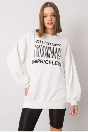 Nebalintos drobės spalvos džemperis MOD1197