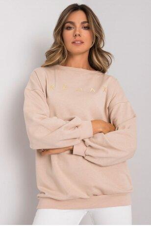 Smėlinės spalvos džemperis MOD1163