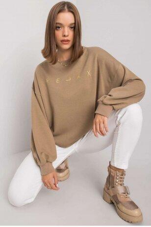 Tamsiai smėlinės spalvos džemperis MOD1163