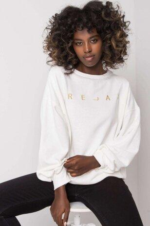 Nebalintos drobės spalvos džemperis MOD1163