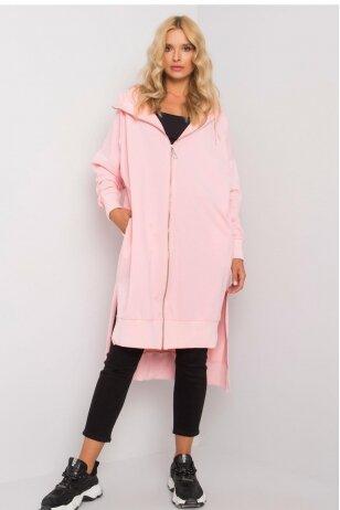 Šviesiai rožinės spalvos džemperis MOD1189