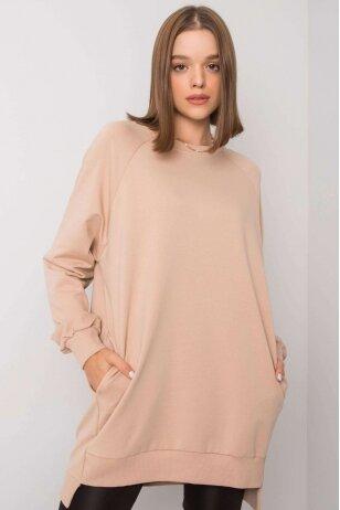 Smėlinės spalvos džemperis MOD1152