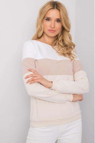 Šviesiai smėlinės spalvos džemperis MOD972