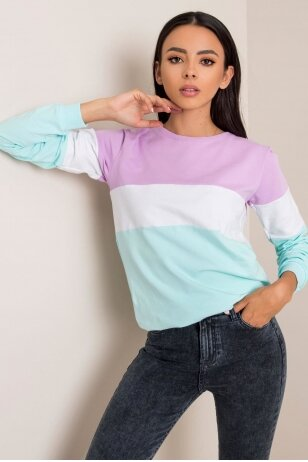 Mėtinės spalvos džemperis MOD972