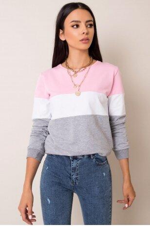 Pilkos spalvos džemperis MOD972