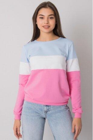 Rožinės spalvos džemperis MOD972