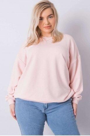 Šviesiai rožinės spalvos džemperis MOD889