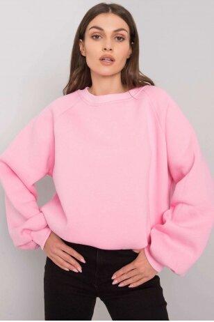 Šviesiai rožinės spalvos džemperis MOD1006