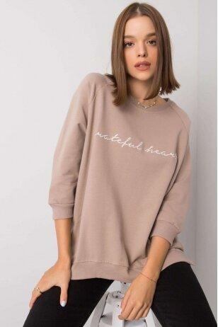 Smėlinės spalvos džemperis MOD1274