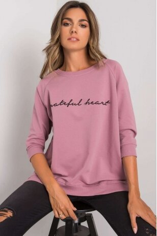 Tamsiai rožinės spalvos džemperis MOD1274