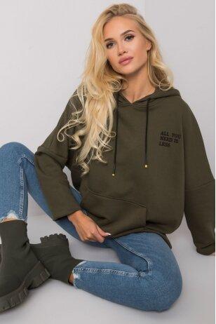 Chaki spalvos džemperis MOD1484