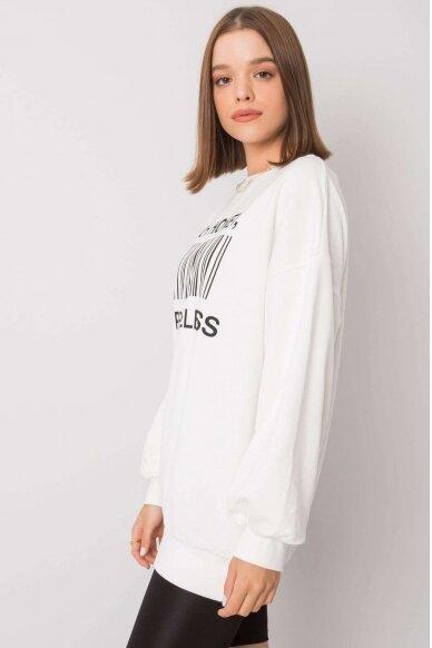 Nebalintos drobės spalvos džemperis MOD1197 2