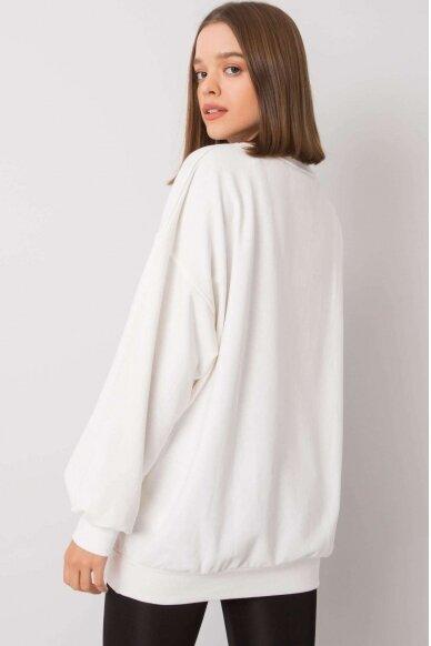 Nebalintos drobės spalvos džemperis MOD1197 3