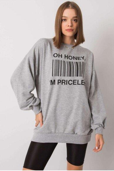 Pilkas džemperis MOD1197 2