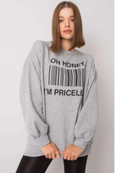 Pilkas džemperis MOD1197