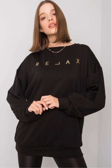 Juodas džemperis MOD1163 2