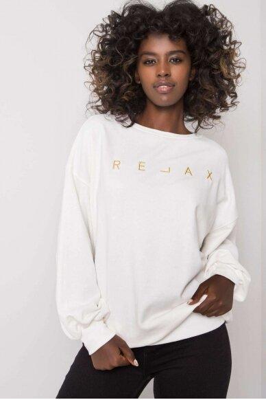 Nebalintos drobės spalvos džemperis MOD1163 2