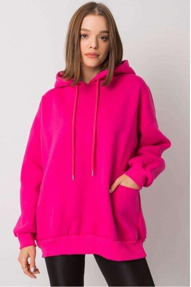 Rožinės spalvos džemperis MOD1162 2
