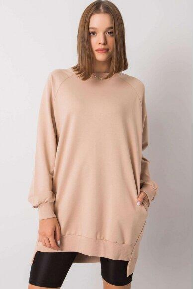 Smėlinės spalvos džemperis MOD1152 2