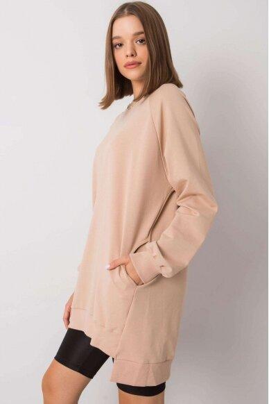 Smėlinės spalvos džemperis MOD1152 3
