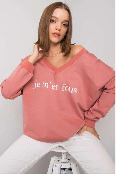 Tamsiai rožinės spalvos džemperis MOD1202