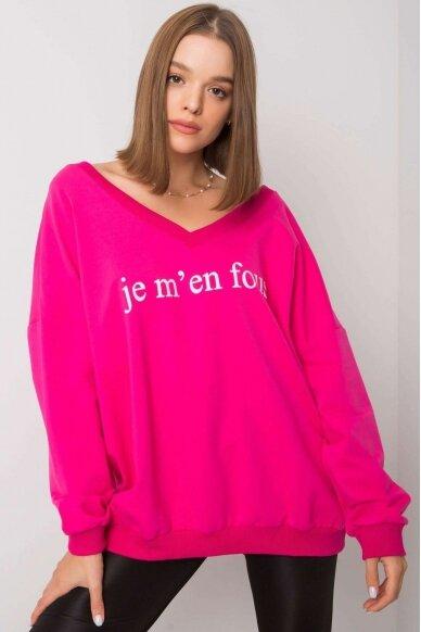 Rožinės spalvos džemperis MOD1202