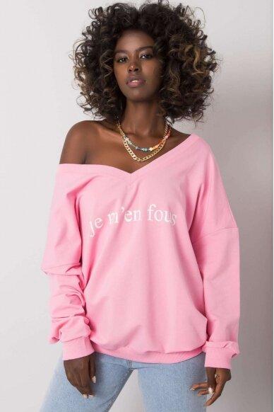 Šviesiai rožinis džemperis MOD1202