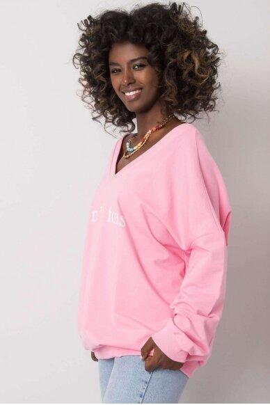 Šviesiai rožinis džemperis MOD1202 3