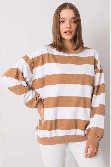 Šviesiai rudas džemperis MOD1159 2